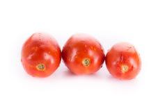 Rode tomaten die op wit worden geïsoleerdi Stock Fotografie