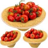 Rode tomaten in een hoed Royalty-vrije Stock Afbeelding