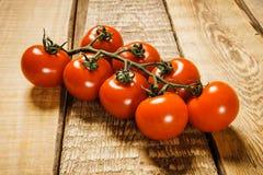 Rode tomaten op de lijst Royalty-vrije Stock Foto