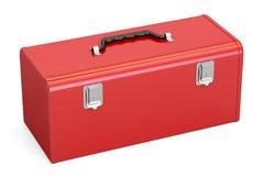 Rode Toolbox, het 3D teruggeven Stock Afbeeldingen