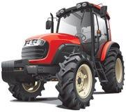 Rode tractor vector illustratie