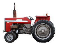 Rode Tractor Royalty-vrije Stock Foto