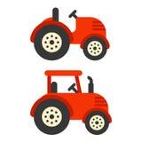 Rode tractorillustratie vector illustratie