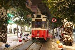 Rode tram op Bahariye-Straat Royalty-vrije Stock Foto's