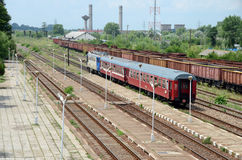 Rode trein Royalty-vrije Stock Fotografie