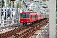 Rode trein stock afbeeldingen