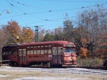 Rode trein Stock Afbeelding