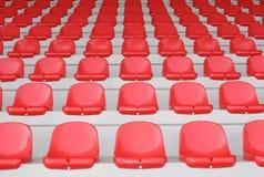 Rode tribune Stock Foto