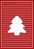 Rode Uitstekende Kerstkaart Stock Foto's
