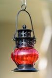 Rode uitstekende lamp royalty-vrije stock foto