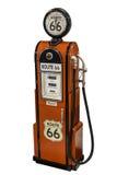 Rode uitstekende route 66 brandstofpomp Stock Fotografie
