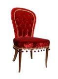 Rode uitstekende stoel Stock Foto