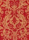 Rode uitstekende stof Stock Foto's