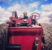Rode uitstekende stoommotor Stock Afbeeldingen