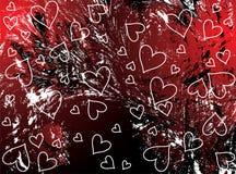 Rode valentijnskaartenachtergrond royalty-vrije illustratie