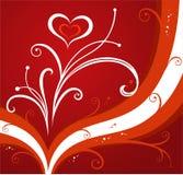 Rode valentijnskaartenachtergrond Stock Afbeeldingen
