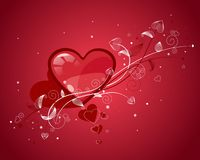 Rode valentijnskaartenharten Royalty-vrije Stock Afbeeldingen