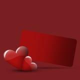Rode valentijnskaartenkaart Royalty-vrije Stock Foto