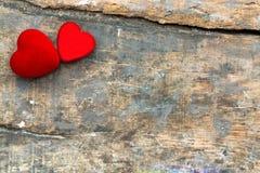 Rode valentijnskaartharten Stock Afbeelding