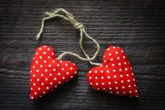 Rode valentijnskaartharten Stock Foto