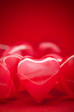 Rode valentijnskaartharten Royalty-vrije Stock Fotografie