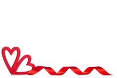 Rode Valentine-dagharten Stock Foto