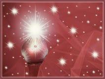 Rode van achtergrond ornamentkerstmis groetkaart Stock Afbeeldingen
