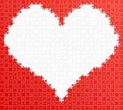 Rode van het de Figuurzaaghart van het Stukraadsel Liefde Als achtergrond vector illustratie