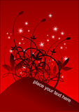 Rode vector als achtergrond Royalty-vrije Stock Afbeelding