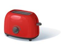 rode vectorbroodrooster met de het verwarmen regelgever Stock Foto's