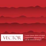Rode vectormalplaatje Abstracte achtergrond met krommenlijnen stock illustratie