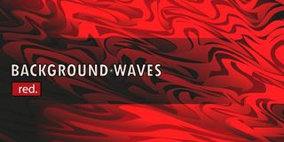 Rode vectormalplaatje Abstracte achtergrond met krommenlijnen en schaduw Voor vlieger, brochure, boekje en websitesontwerp royalty-vrije illustratie