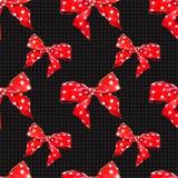 Rode vectorpatroonboog met stip Vector Stock Afbeelding