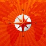 Rode vectorwindroos Stock Afbeelding