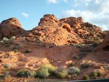 Rode vegas van de rotscanion las stock afbeelding