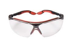 Rode veiligheidsbril Stock Afbeeldingen