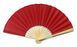 Rode ventilator royalty-vrije stock afbeelding