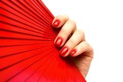Rode ventilator ter beschikking Royalty-vrije Stock Afbeelding