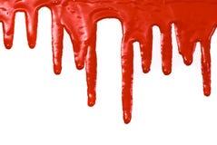 Rode verf Stock Afbeelding