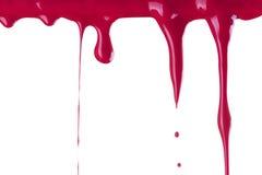 Rode verfdaling Stock Afbeelding
