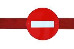 Rode verkeersteken Stock Foto's