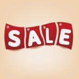 Rode verkoop Royalty-vrije Stock Afbeeldingen