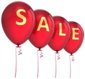 Rode verkoopballons Royalty-vrije Stock Afbeeldingen