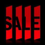 Rode verkoopbanner Stock Fotografie