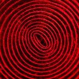 Rode verlichte spiraal van velcroband Royalty-vrije Stock Fotografie
