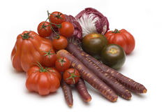 Rode verse groenten Stock Afbeelding