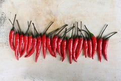 Rode verse Spaanse peperingrediënten Royalty-vrije Stock Afbeelding