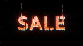 Rode vervormde glitch van de verkoopaffiche stijl royalty-vrije stock afbeelding