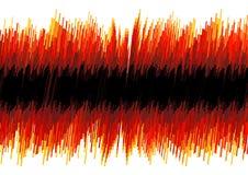 Rode vervormde oscilloscoopsamenvatting Stock Afbeelding