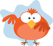 Rode Vette Vogel Royalty-vrije Stock Afbeelding